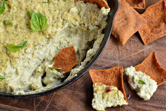 Pesto Goat Cheese Dip